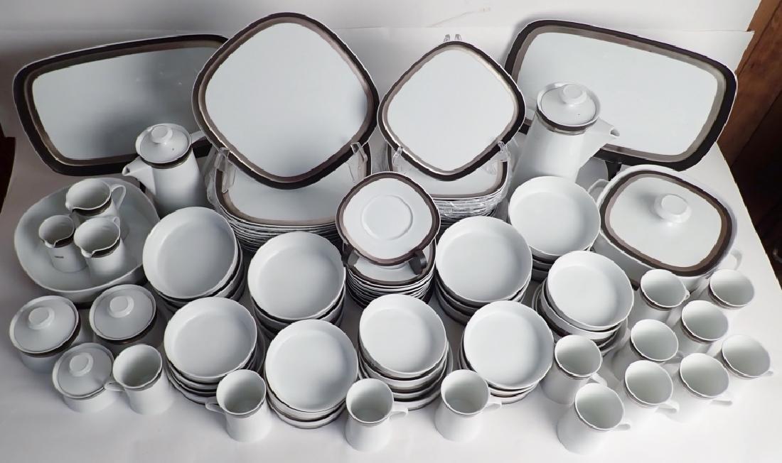 100 Piece Set Sango Quadrille Black Satin, Japan - 16