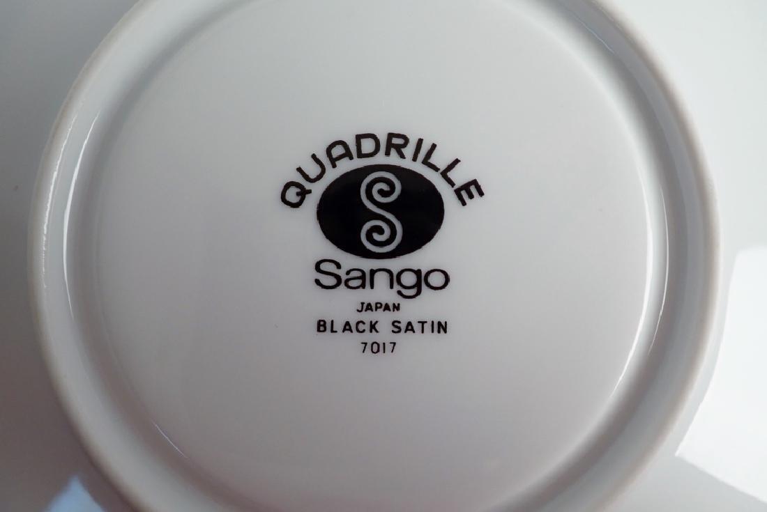 100 Piece Set Sango Quadrille Black Satin, Japan - 6