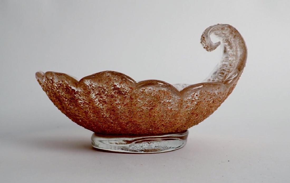 8 Murano Glass Overshot Art Glass Shell Bowls - 2