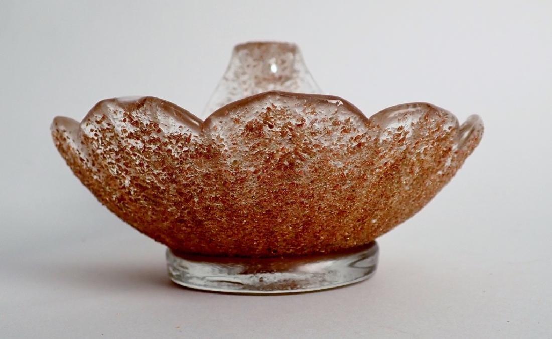 8 Murano Glass Overshot Art Glass Shell Bowls - 4