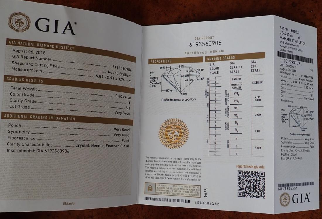 GIA Certified 0.80 Carat Diamond - 2