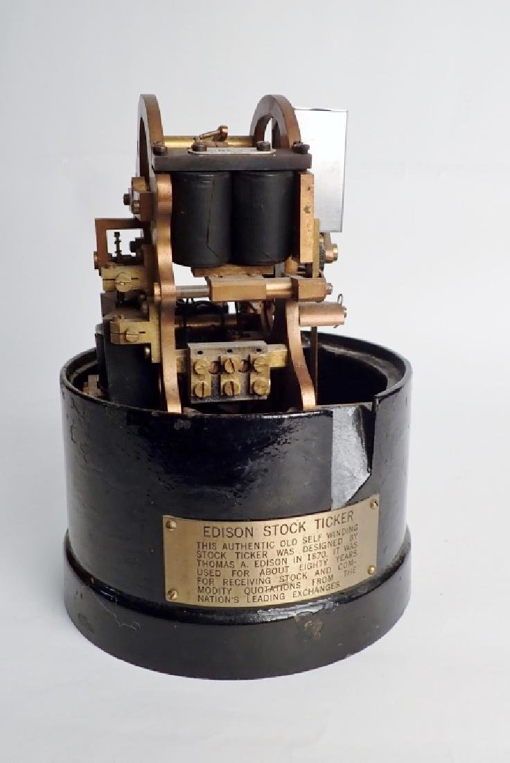 Edison Self Winding Stock Ticker