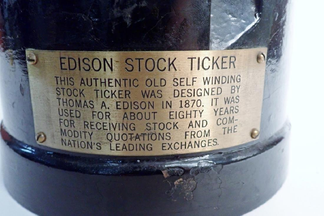 Edison Self Winding Stock Ticker - 4