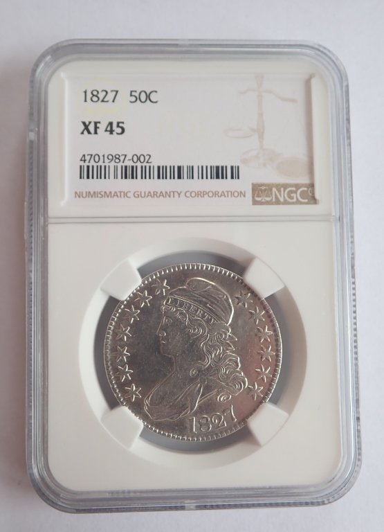 1827 Capped Bust Half Dollar Coin