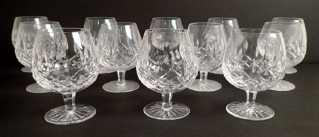 Set of 12 Waterford Lismore Brandy Glasses