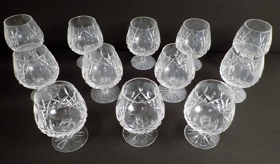 Set of 12 Waterford Lismore Brandy Glasses - 2