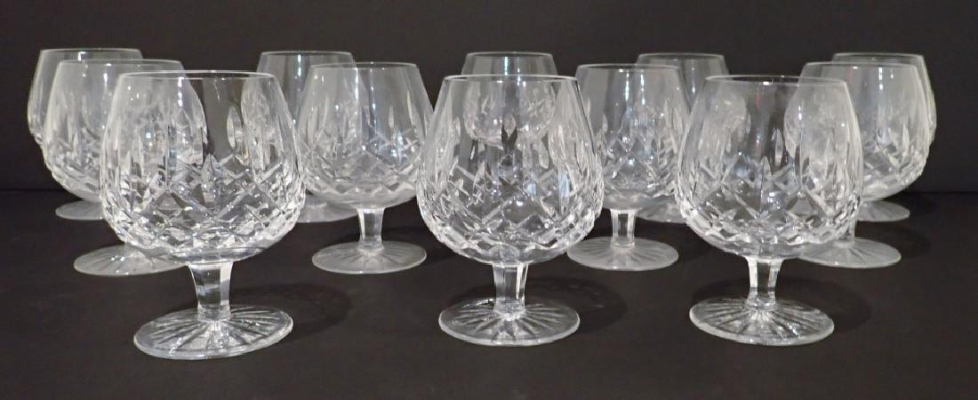 Set of 12 Waterford Lismore Brandy Glasses - 8