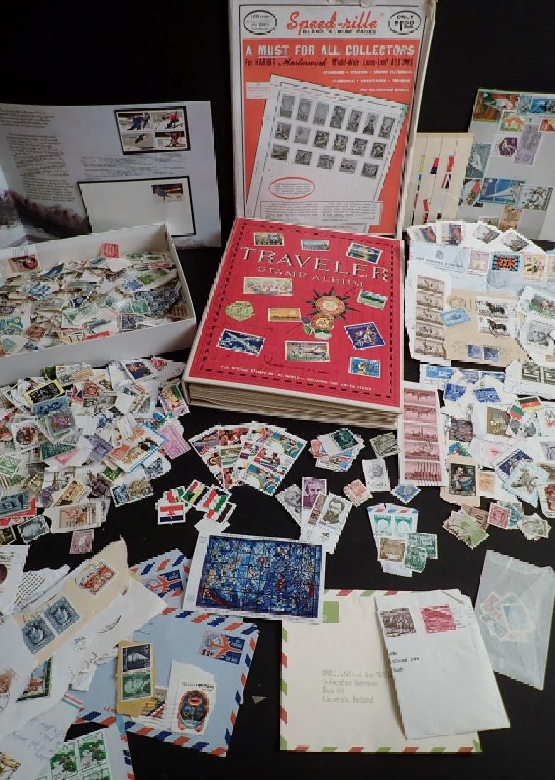 Large Collection of US and World Used Stamps - 4