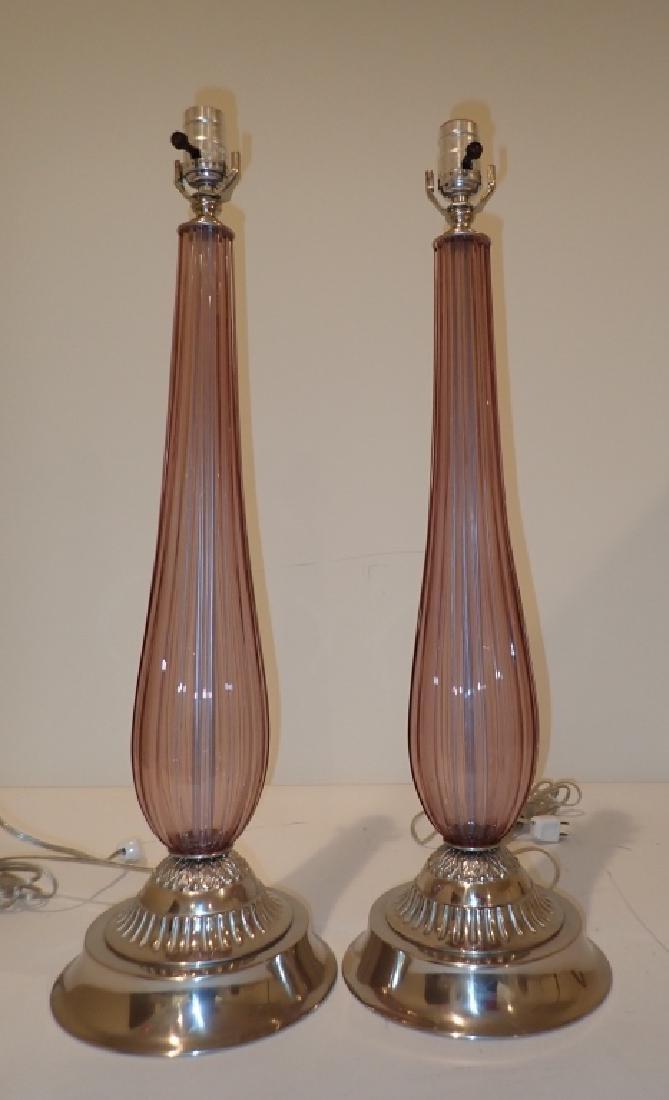 Venetian Glass Lamps in Manner of Seguso - 2