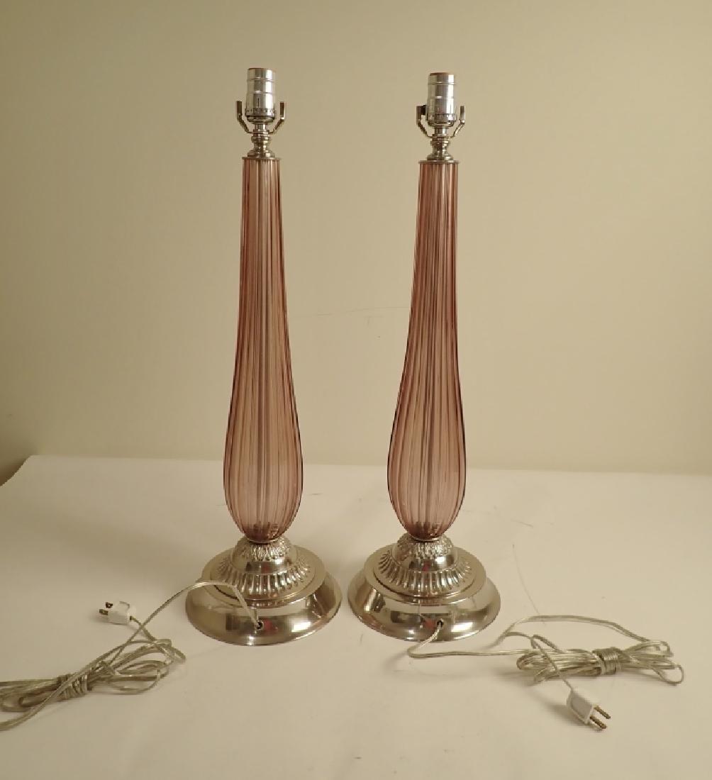Venetian Glass Lamps in Manner of Seguso - 3