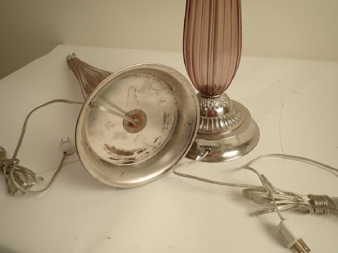 Venetian Glass Lamps in Manner of Seguso - 5