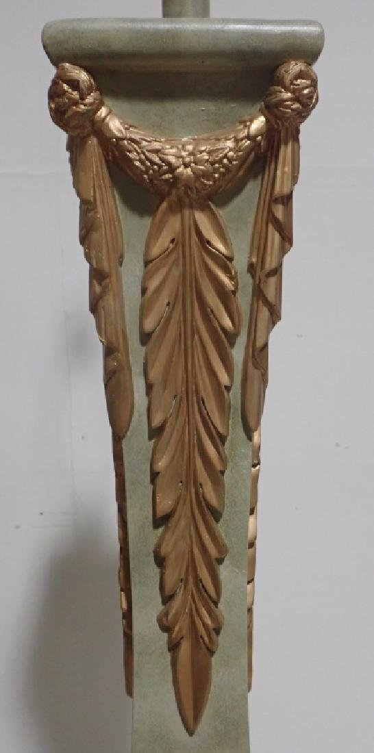 Composition Floor Lamp with Gilt Accents - 6