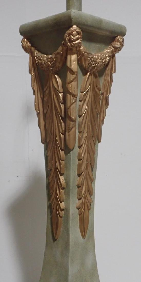 Composition Floor Lamp with Gilt Accents - 7