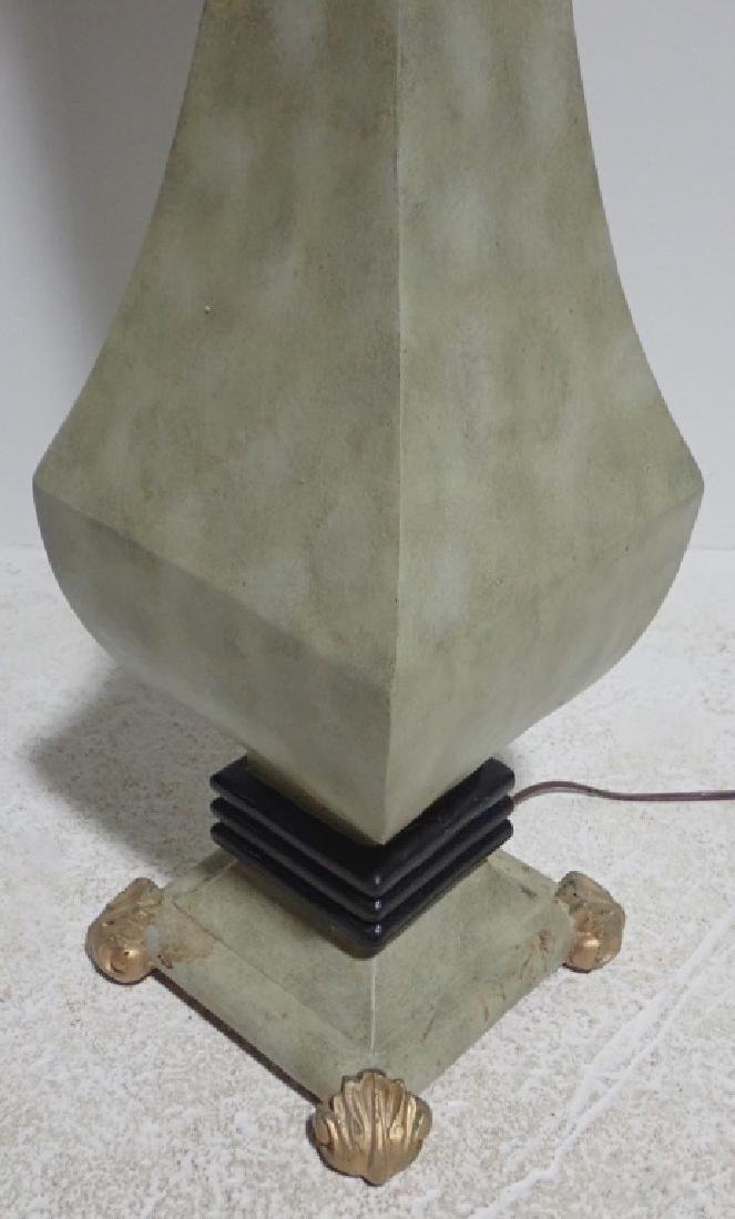 Composition Floor Lamp with Gilt Accents - 9