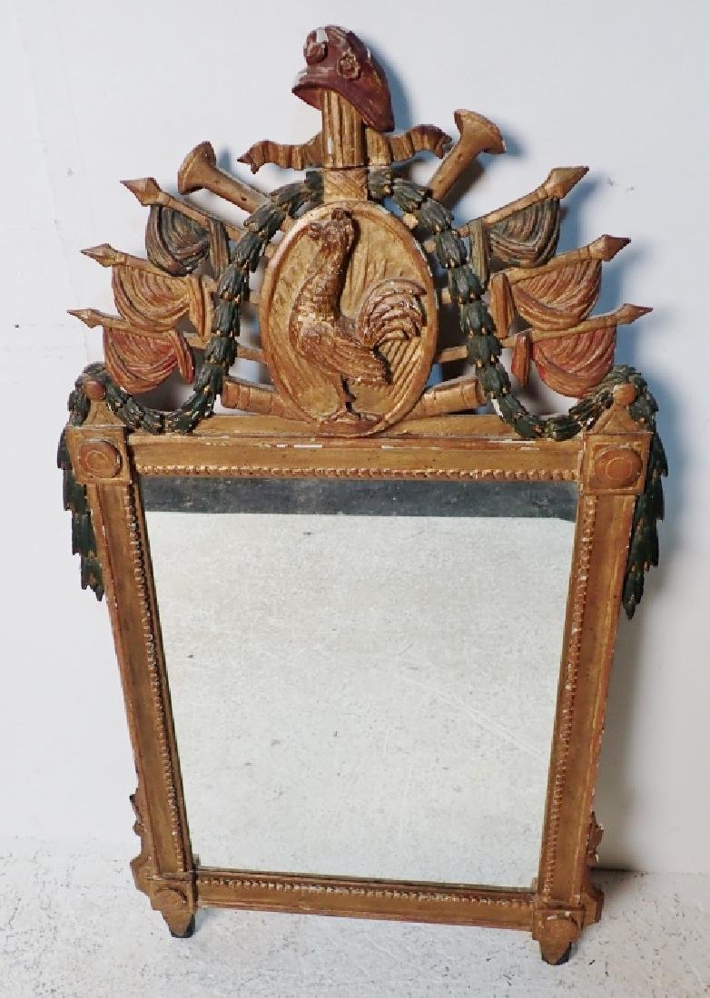 18th Century Carved Wood Mirror - 10