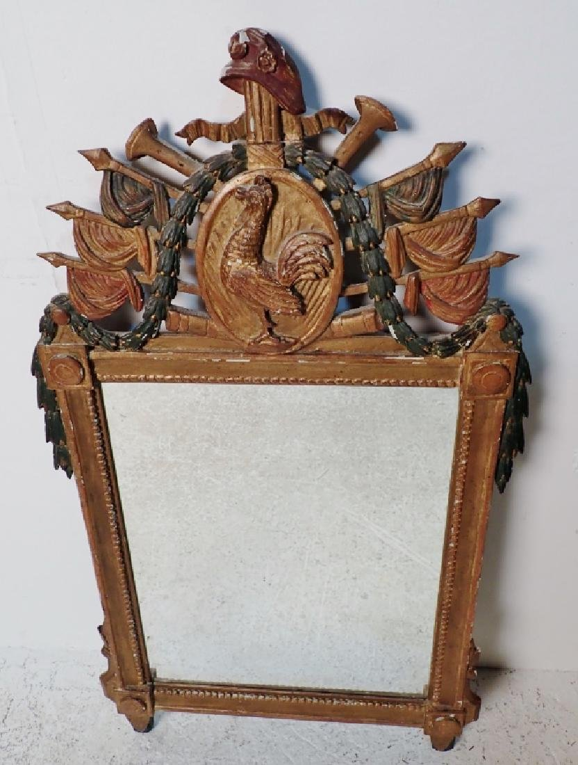 18th Century Carved Wood Mirror