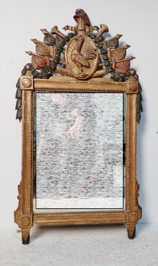 18th Century Carved Wood Mirror - 2