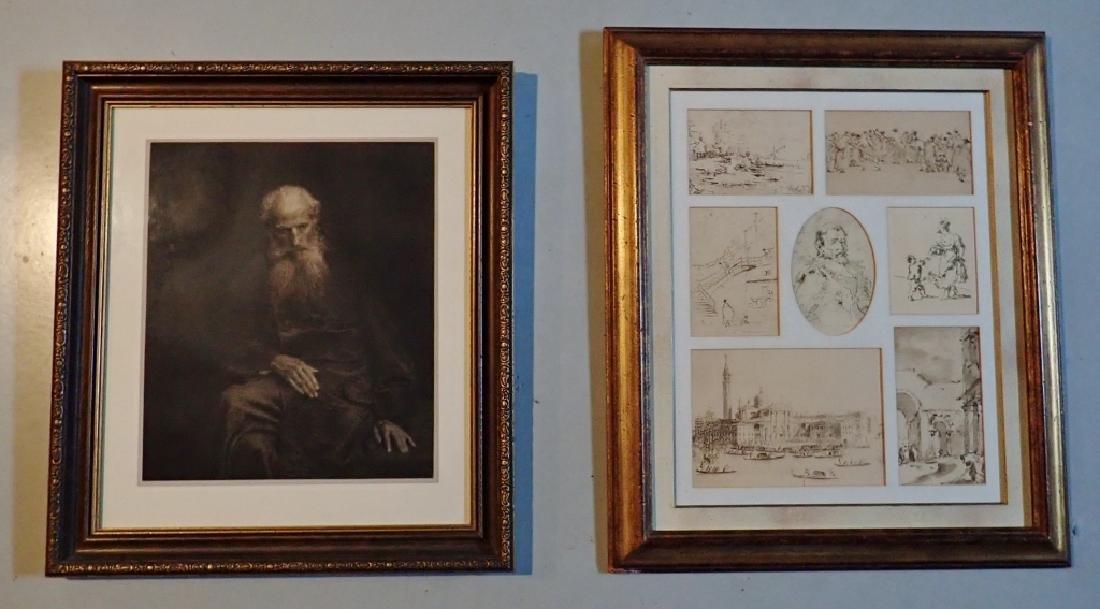 Two Framed Vintage Figural Prints