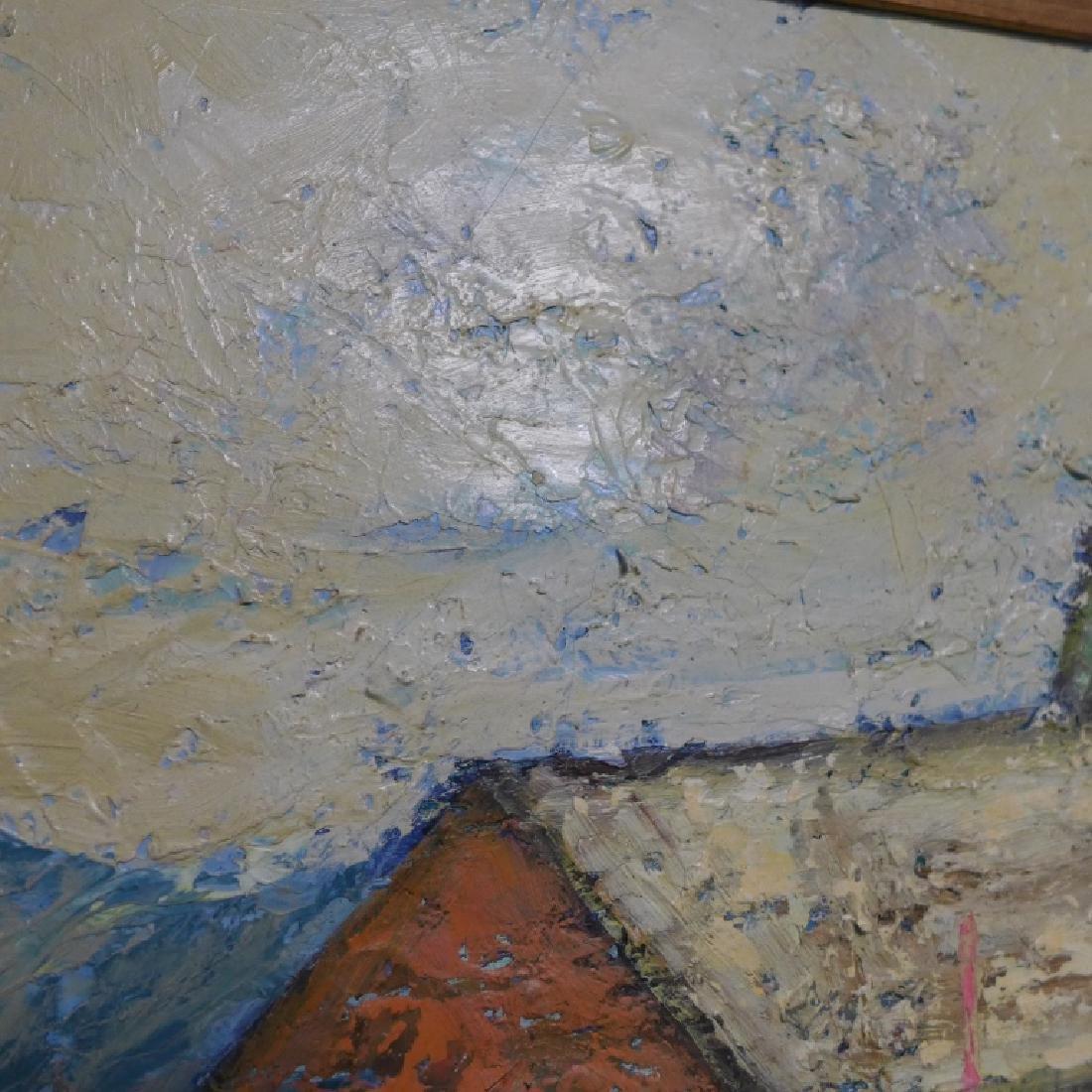 Signed Harbor Scene Painting - 6