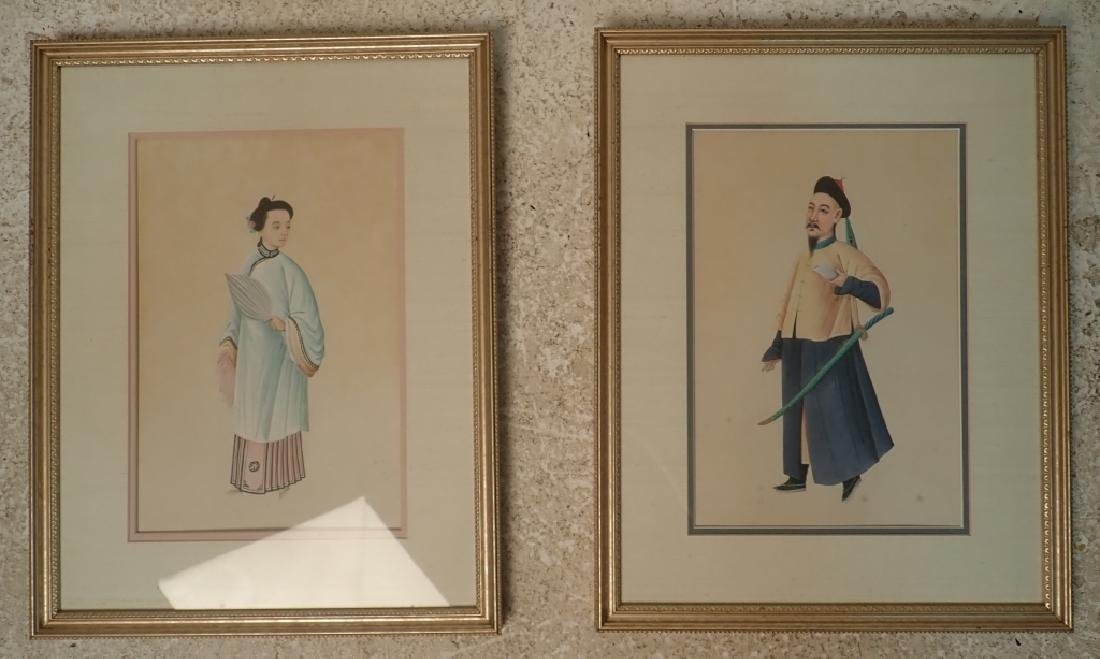Pairing of Framed Asian Figural Prints