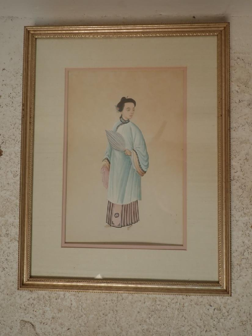 Pairing of Framed Asian Figural Prints - 5