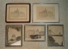Assorted Vintage Architectural Drawings