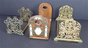Collection of 3 Antique Sliding Bookends