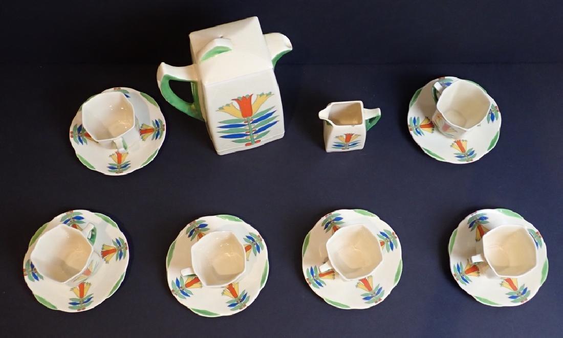 Royal Doulton Mecca Art Deco Porcelain Tea Set - 2