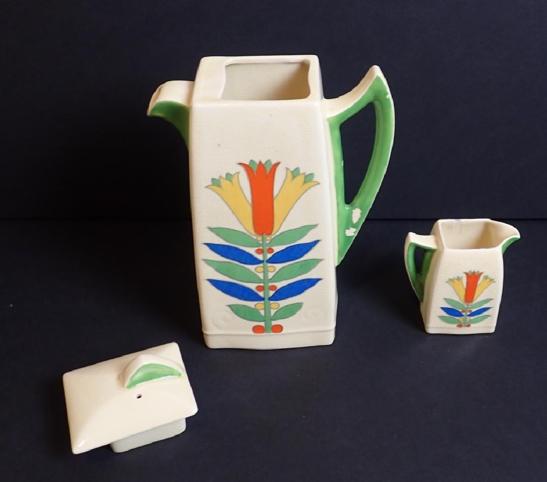 Royal Doulton Mecca Art Deco Porcelain Tea Set - 3