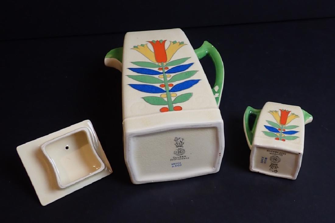 Royal Doulton Mecca Art Deco Porcelain Tea Set - 4