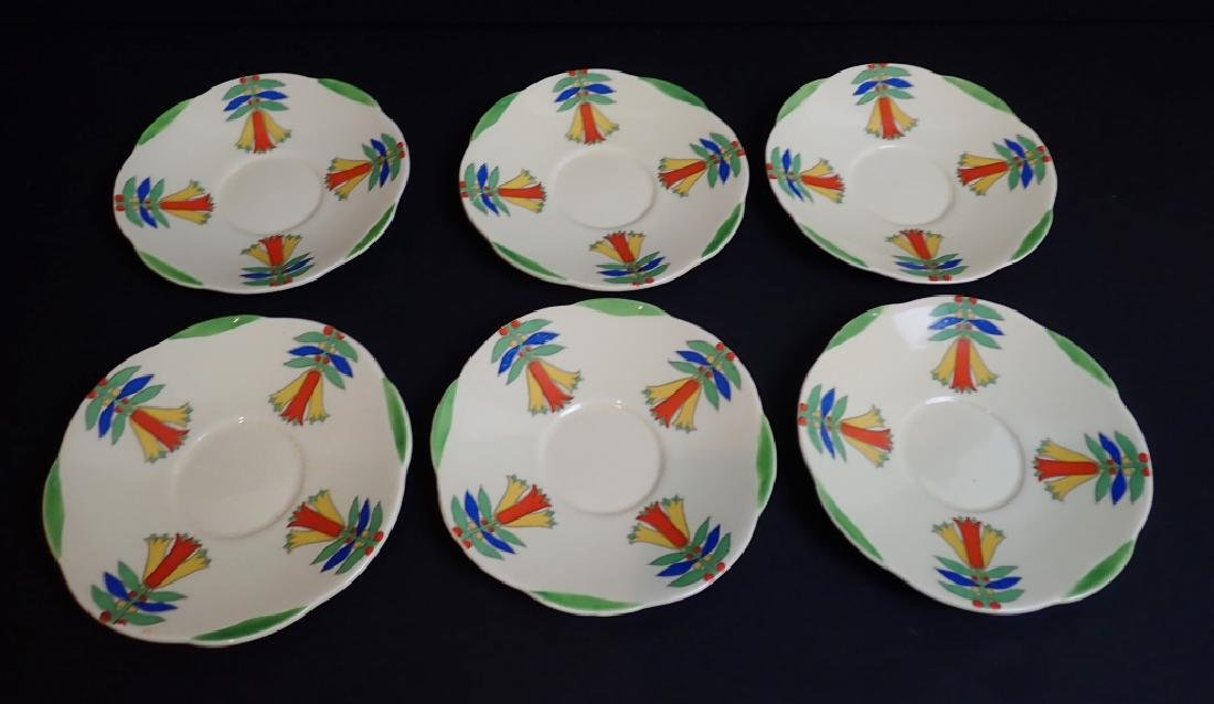 Royal Doulton Mecca Art Deco Porcelain Tea Set - 6