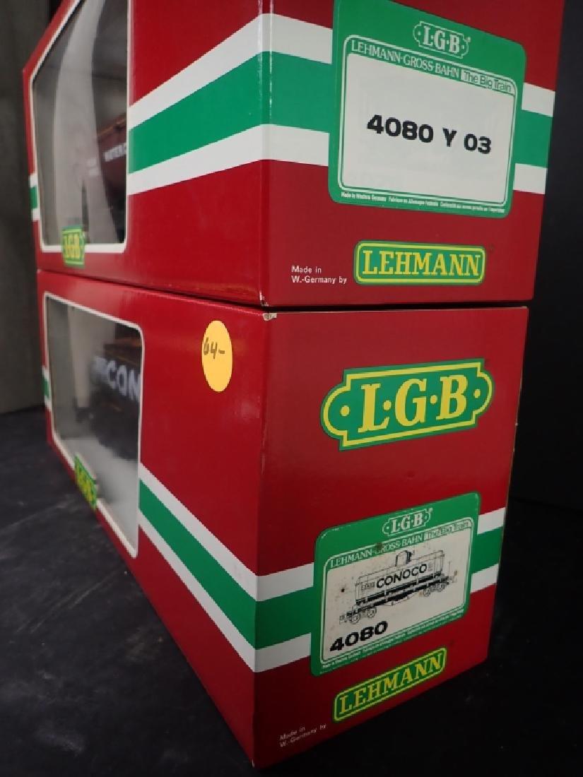 2 LGB 4080 Train Cars: Conoco & Water Tank Cars - 2