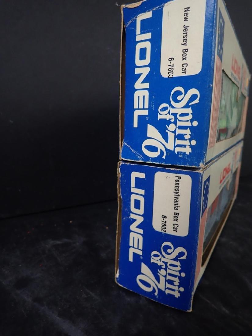 Two Lionel Spirit of '76 Train Box Cars, PA & NJ - 3