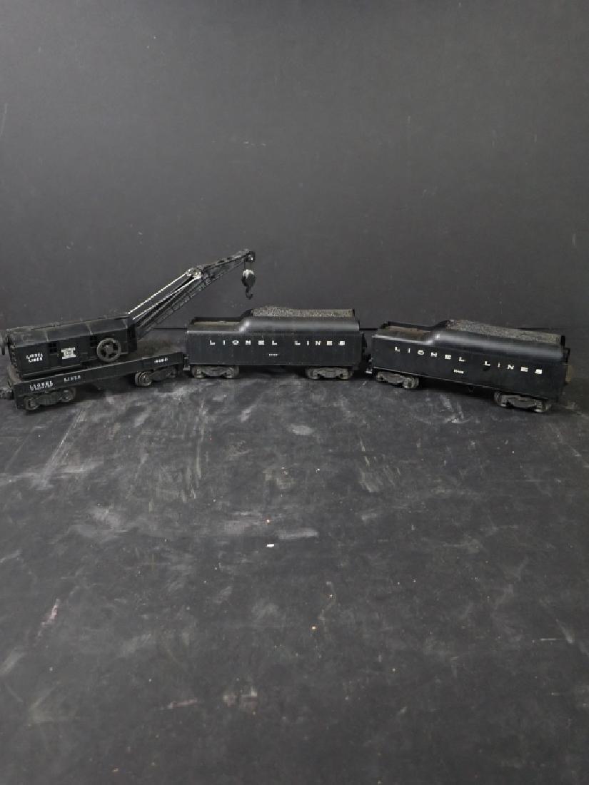Three Lionel Lines Train Cars, Crane & 2 Tenders - 2