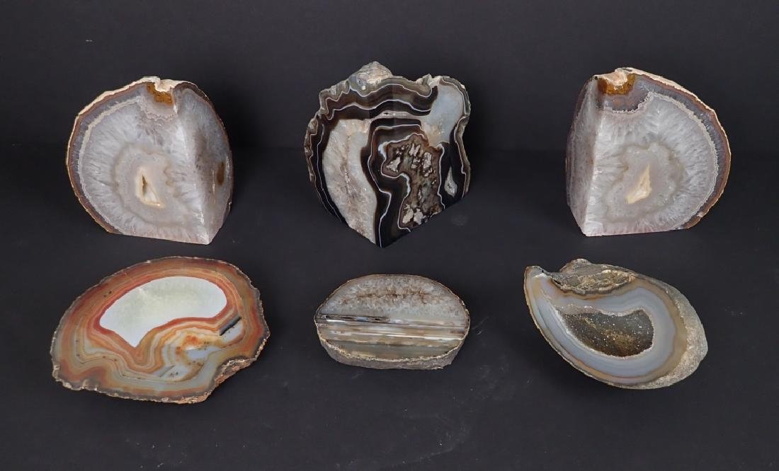 Collection of Six Natural Geodes