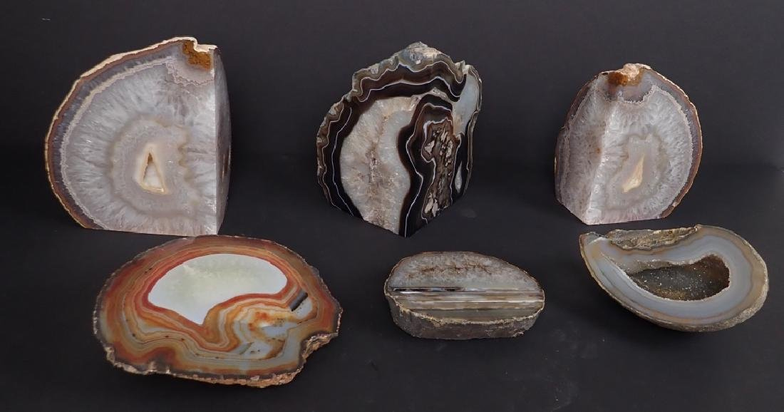 Collection of Six Natural Geodes - 2