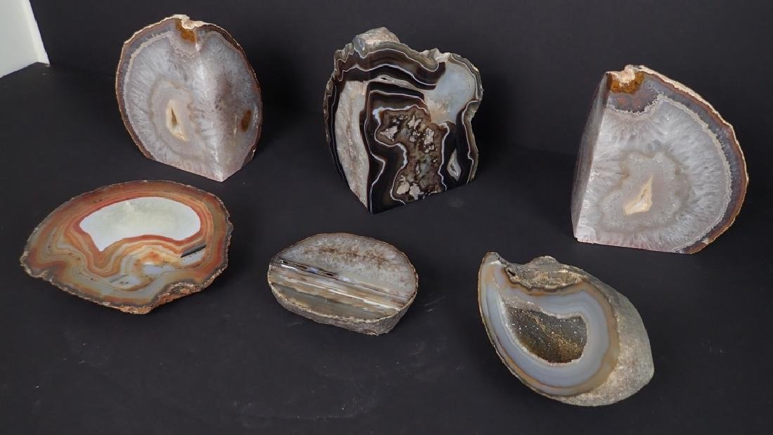 Collection of Six Natural Geodes - 3