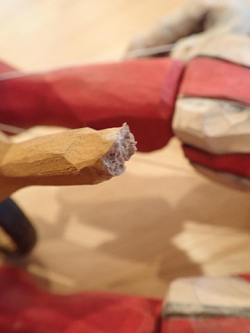 Vintage Wood Carved & Painted Marionette - 10