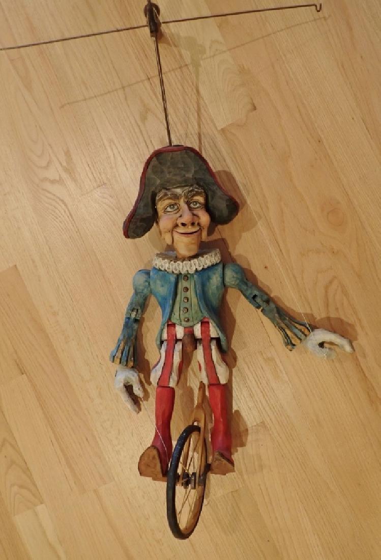 Vintage Wood Carved & Painted Marionette