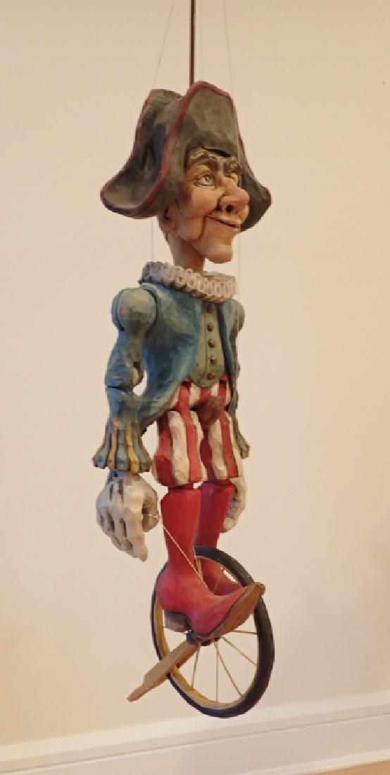 Vintage Wood Carved & Painted Marionette - 2