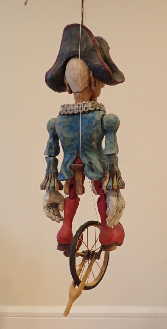 Vintage Wood Carved & Painted Marionette - 7