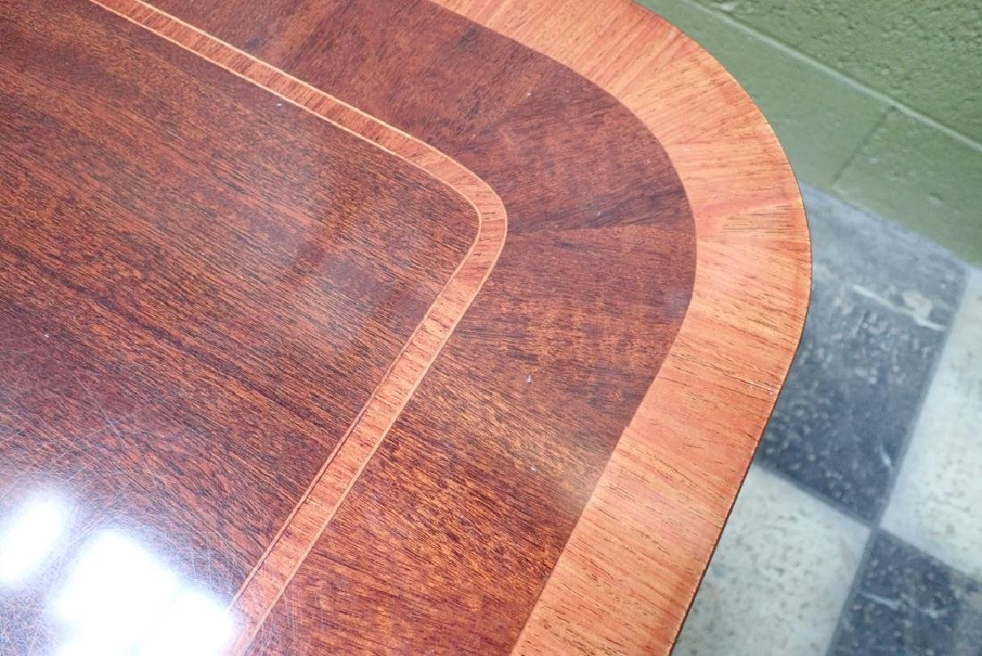 Banquet Size Triple Pedestal Mahogany Dining Table - 3