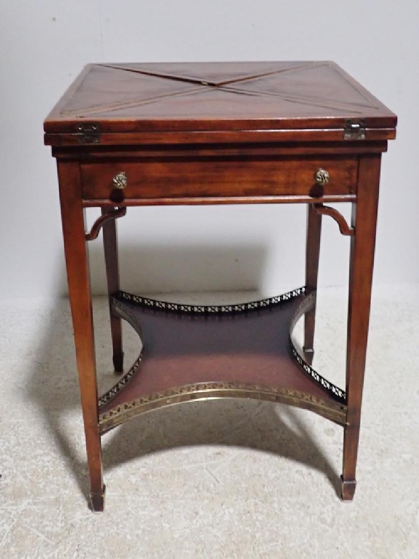 Antique Envelope Folding Game Table