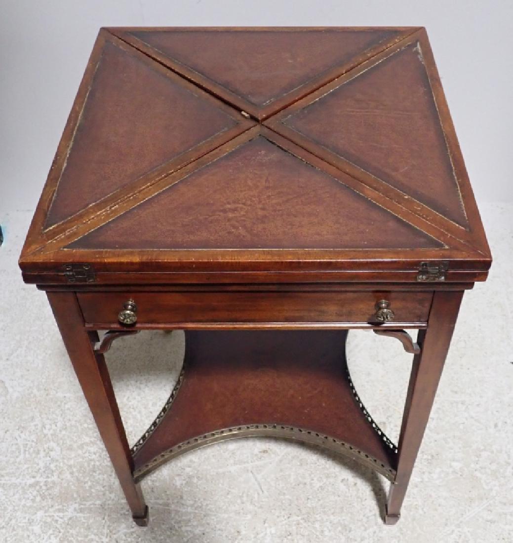 Antique Envelope Folding Game Table - 2