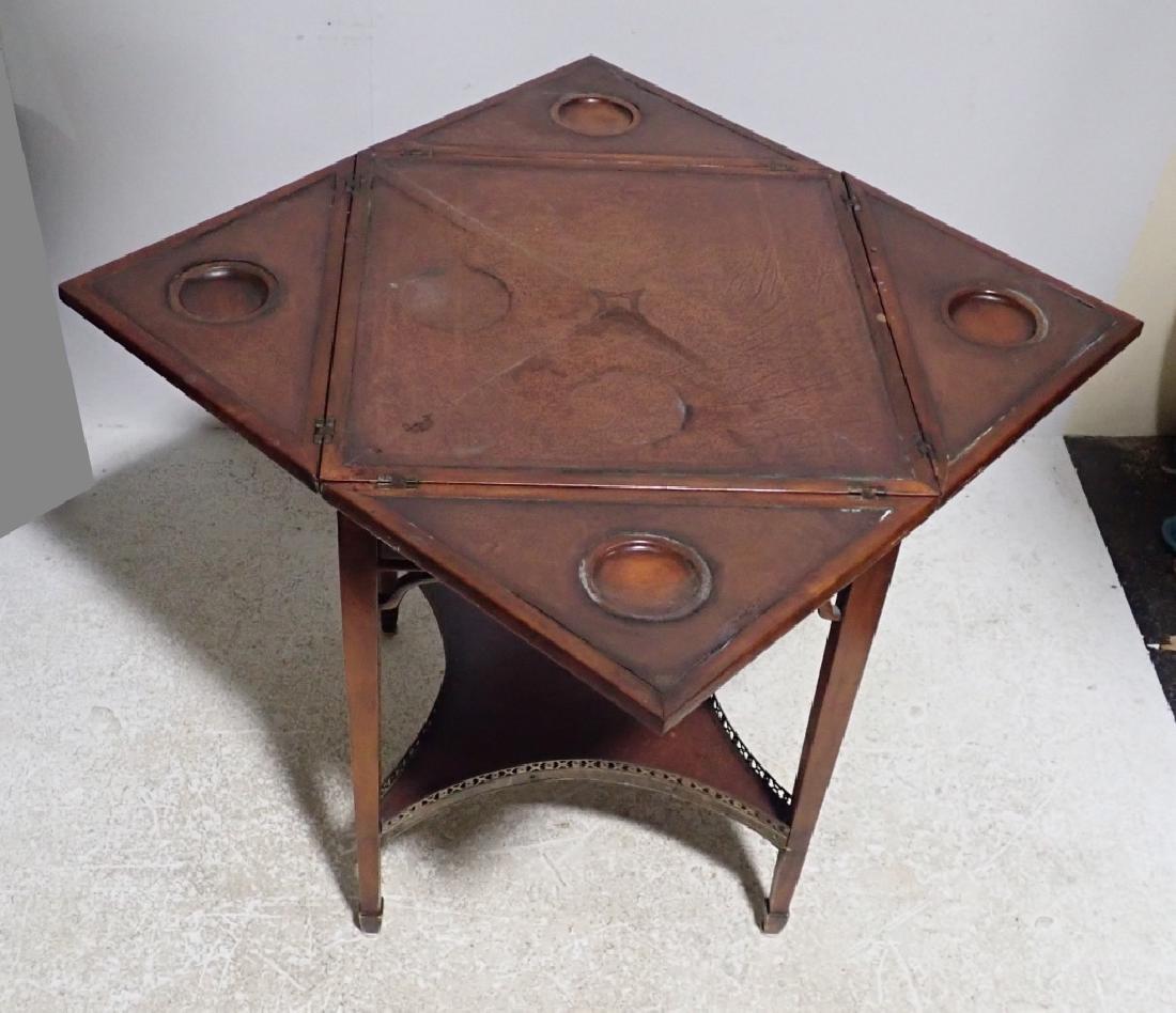 Antique Envelope Folding Game Table - 5