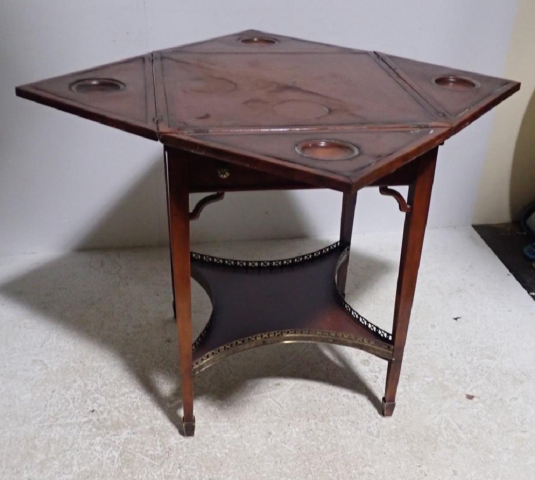 Antique Envelope Folding Game Table - 6