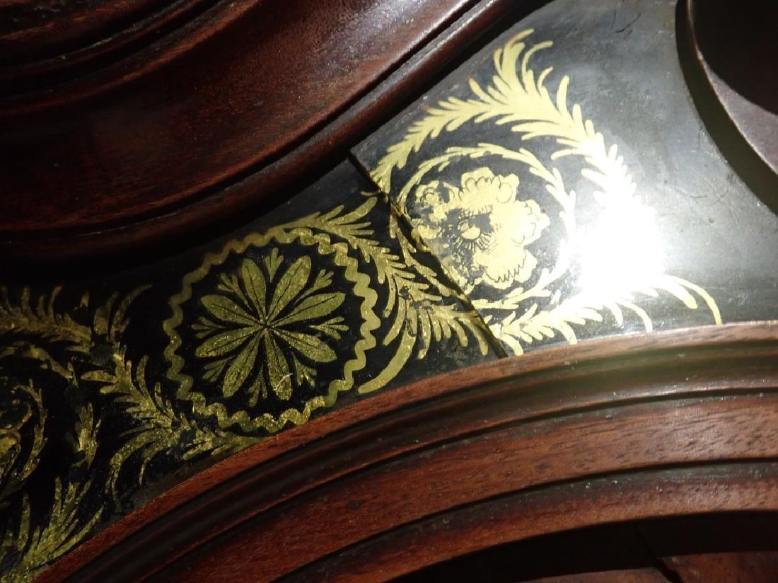 Antique Long Case Moon Dial Grandfather Clock - 10
