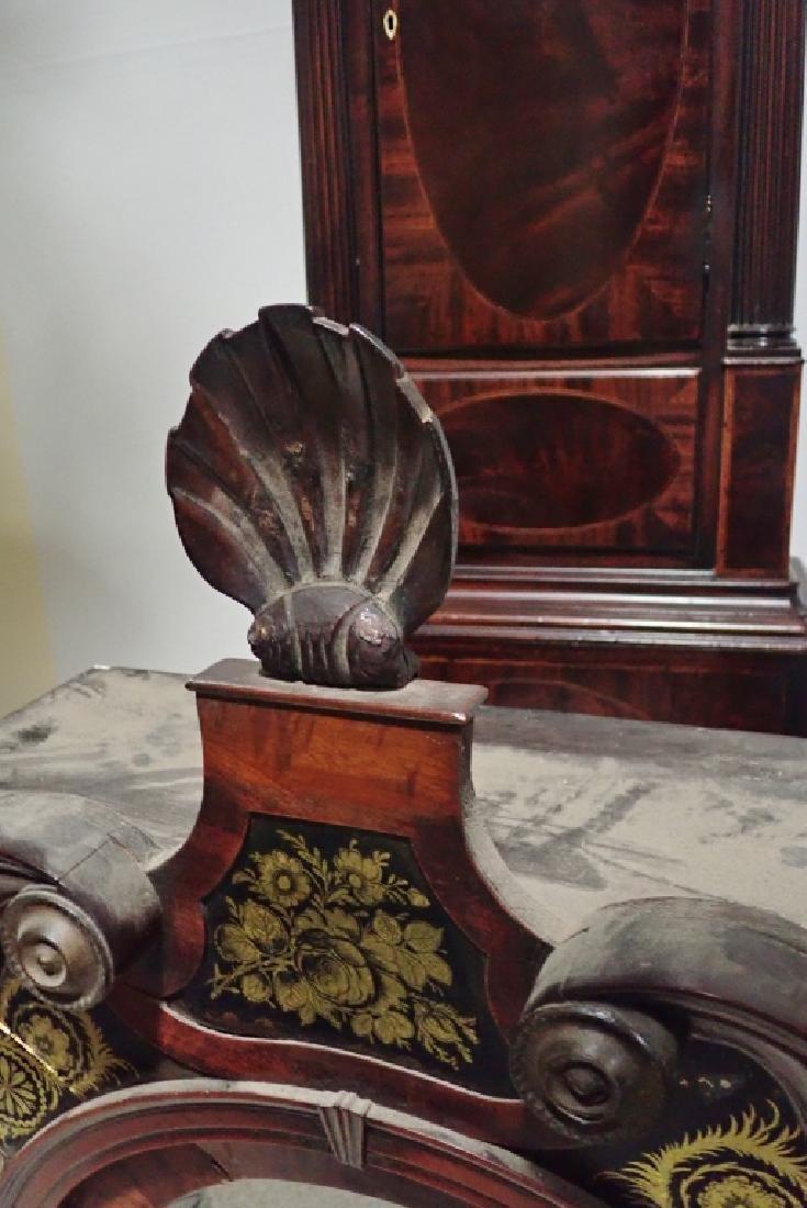 Antique Long Case Moon Dial Grandfather Clock - 6