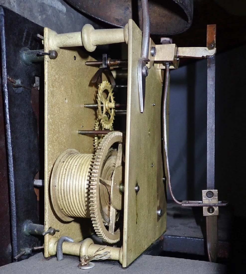 Antique Long Case Moon Dial Grandfather Clock - 7