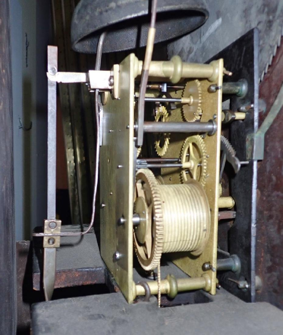 Antique Long Case Moon Dial Grandfather Clock - 8
